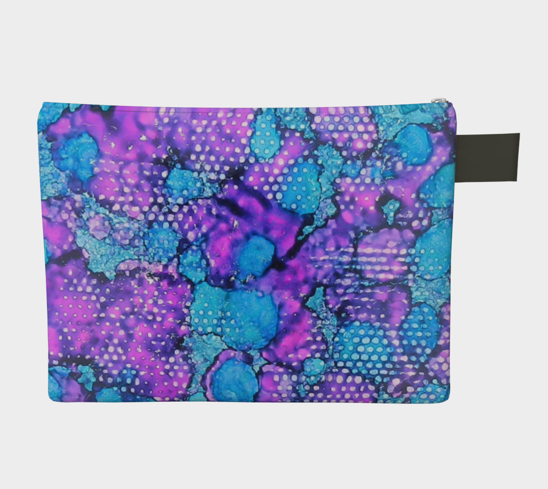 Violet Clouds Ink #24 Zipper Carry All preview #2