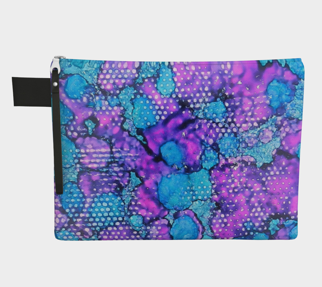 Violet Clouds Ink #24 Zipper Carry All preview #1