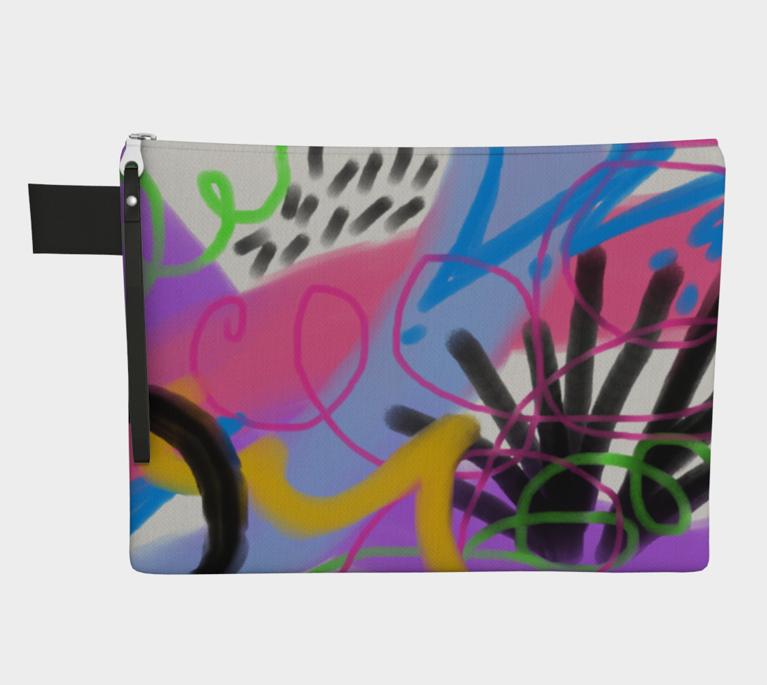 Funky Abstract Art Clutch Bag Miniature #2