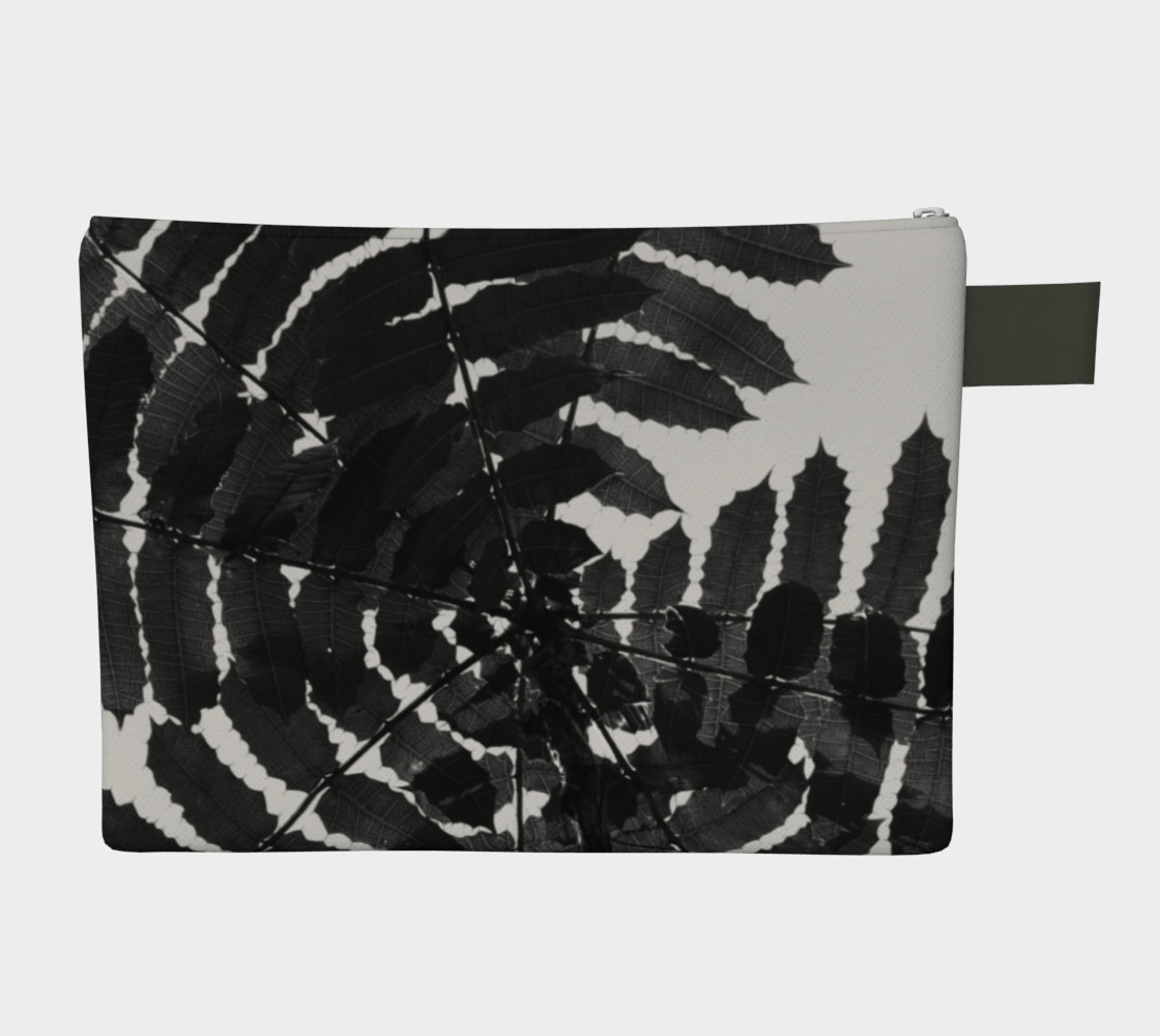 Aperçu de Black and White Leaf CarryAll #2