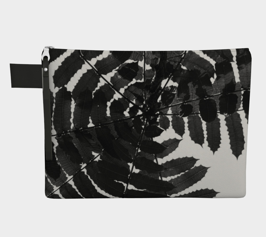 Aperçu de Black and White Leaf CarryAll #1