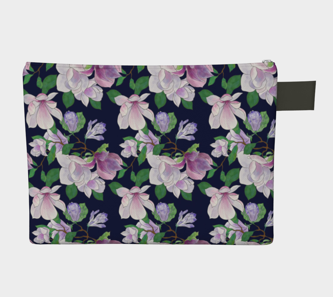 Magnolia Floral Frenzy Zipper Carry-All preview #2