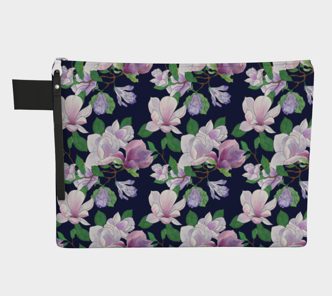 Magnolia Floral Frenzy Zipper Carry-All preview #1