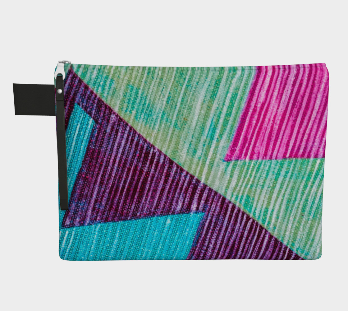 Ethnic Print Zipper Carry-All  preview #1