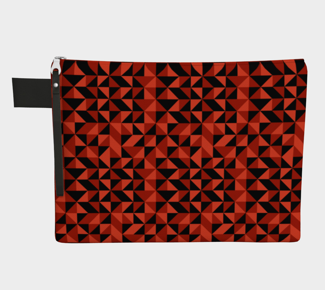Red Triangles Zipper Carry-All preview #1