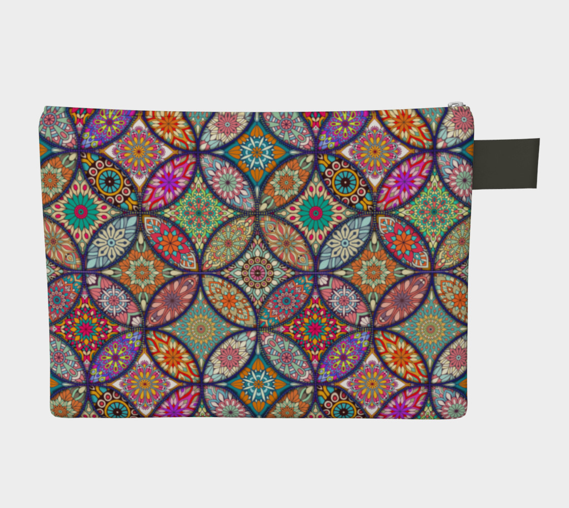 Vibrant Mandalas Zipper Carry-all preview #2