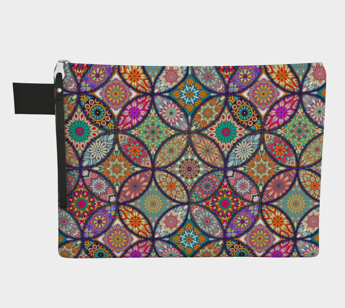 Vibrant Mandalas Zipper Carry-all preview #1