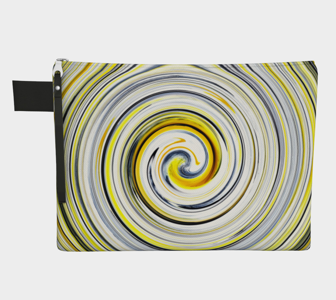 Yellow And Black Funky Swirl preview #1