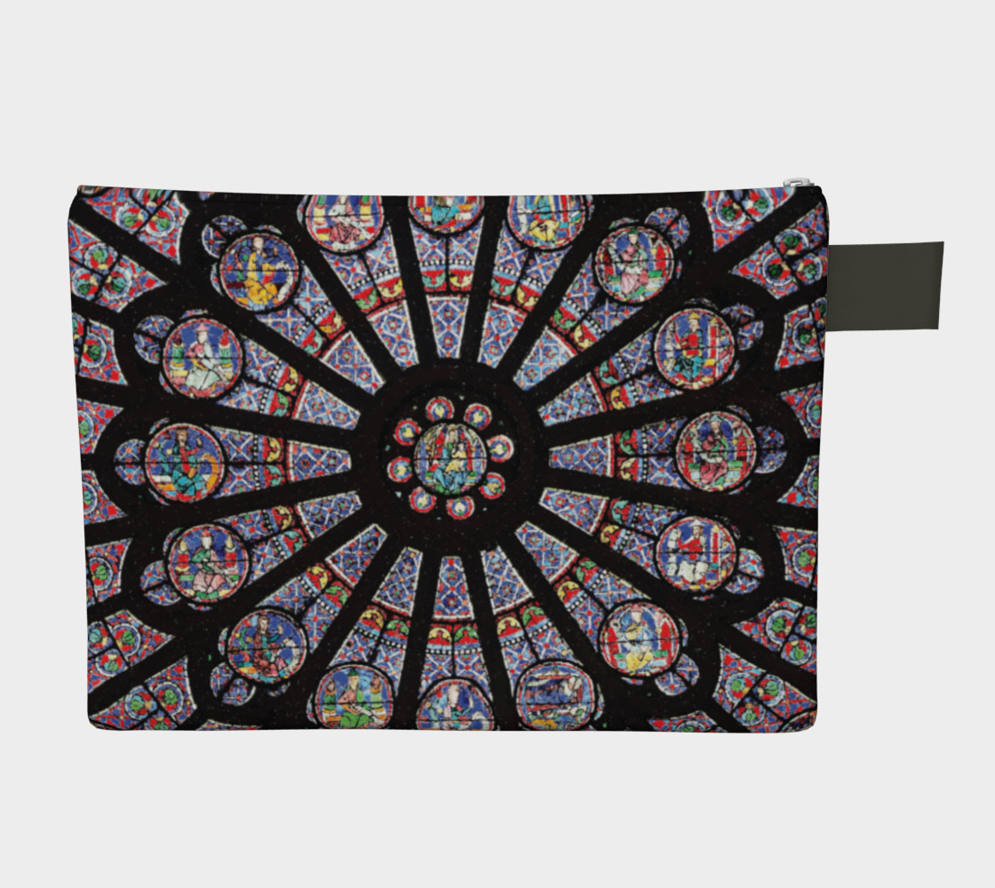 Rose South Window, Notre Dame Paris Zippered Carry-All preview #2
