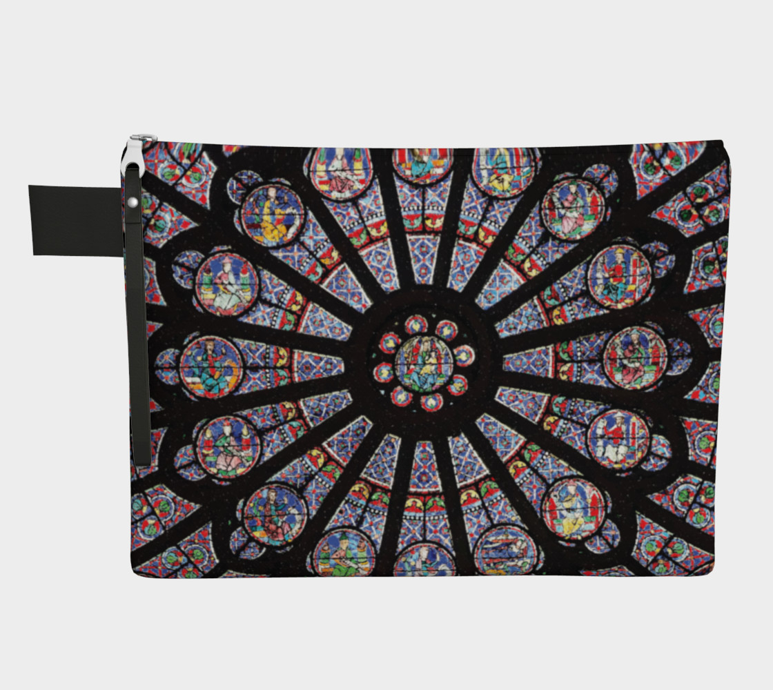 Rose South Window, Notre Dame Paris Zippered Carry-All preview #1