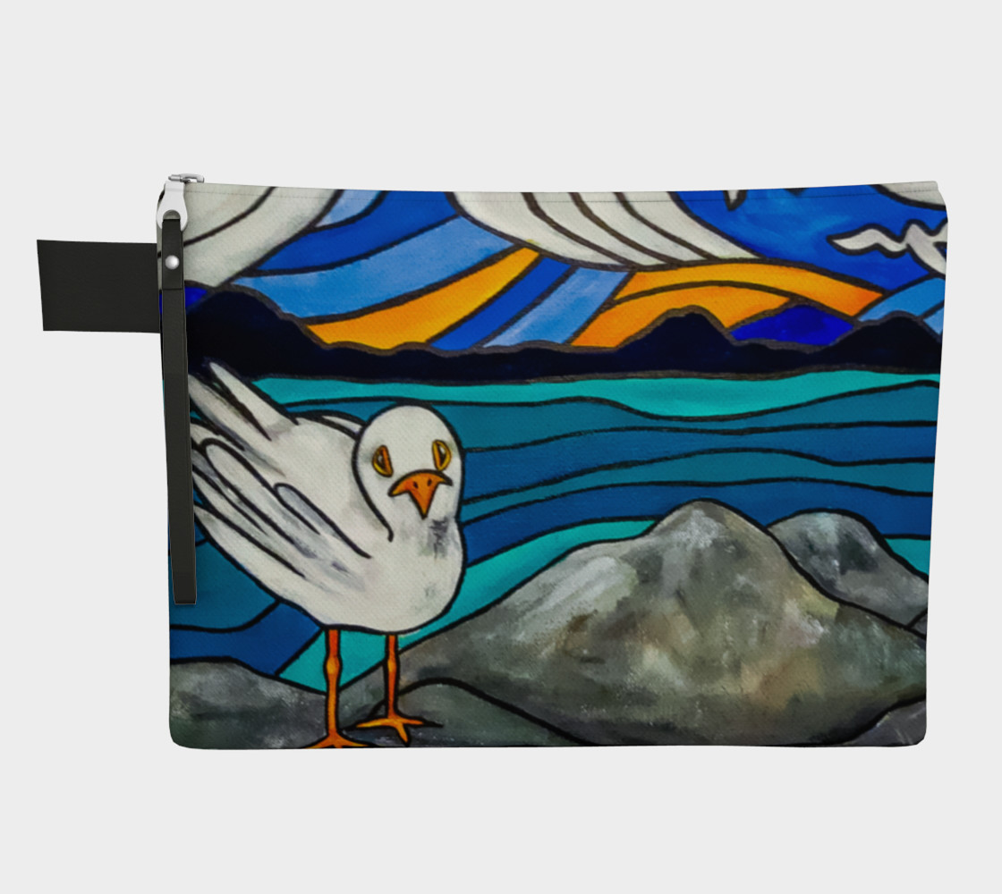 Seagull by the Sea Zipper Carry All preview #1