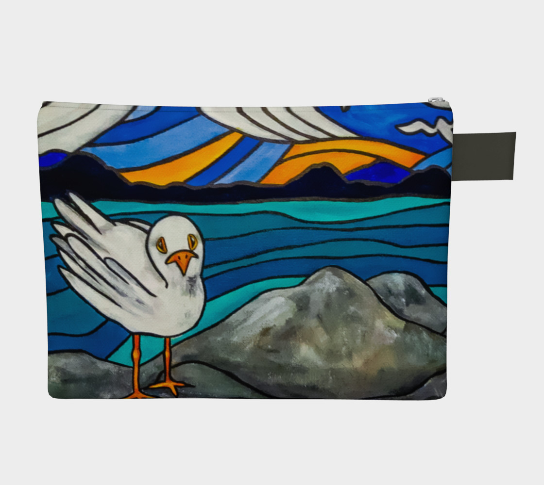 Seagull by the Sea Zipper Carry All preview #2