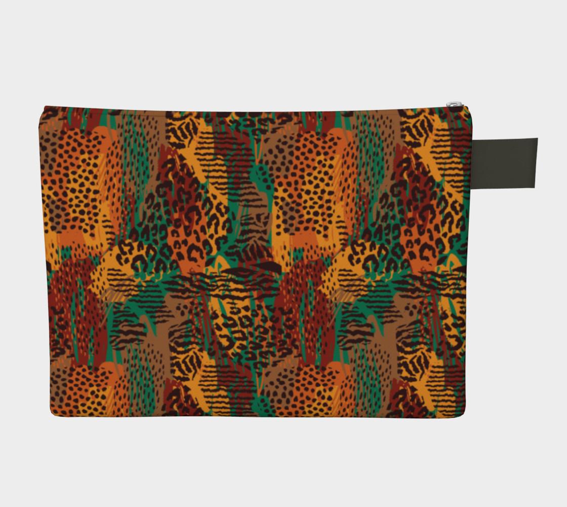 Safari Animal Print Mashup Zipper Carry-All preview #2