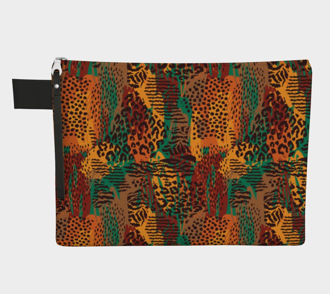 Safari Animal Print Mashup Zipper Carry-All preview #1