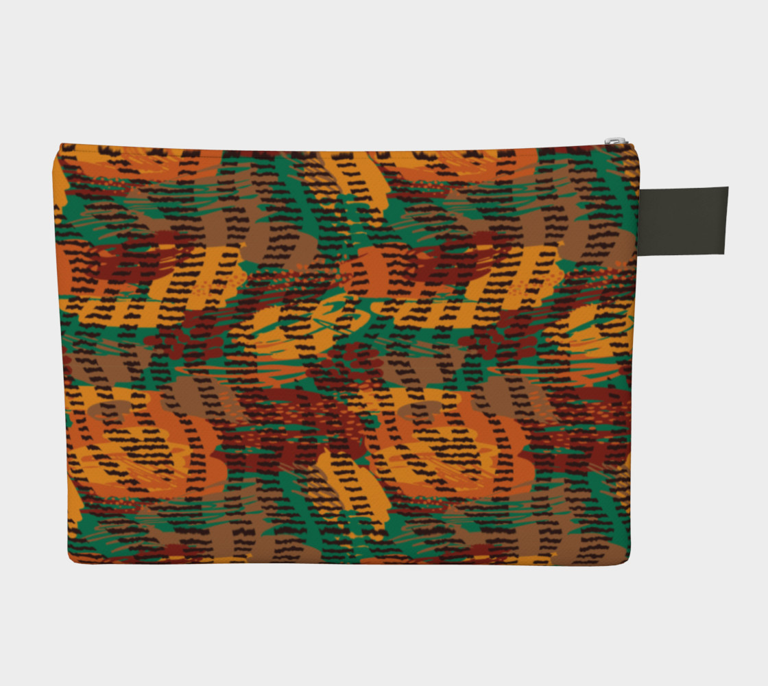Abstract Animal Stripes Zipper Carry-All preview #2