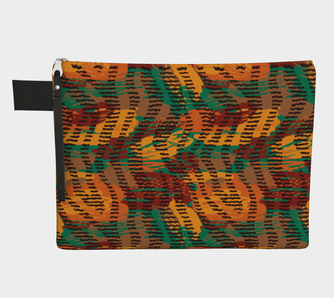 Abstract Animal Stripes Zipper Carry-All preview #1