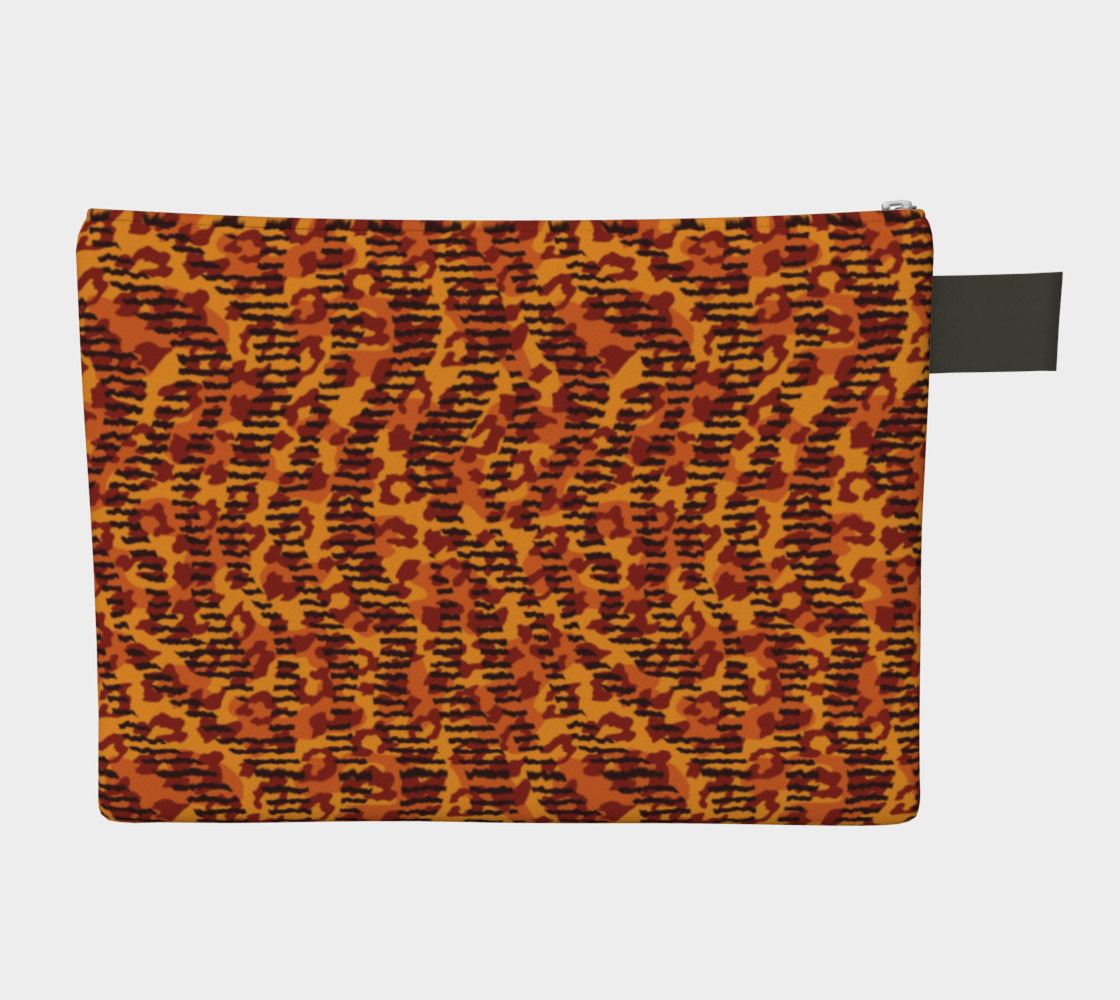 Animal Stripes and Spots Zipper Carry-All preview #2