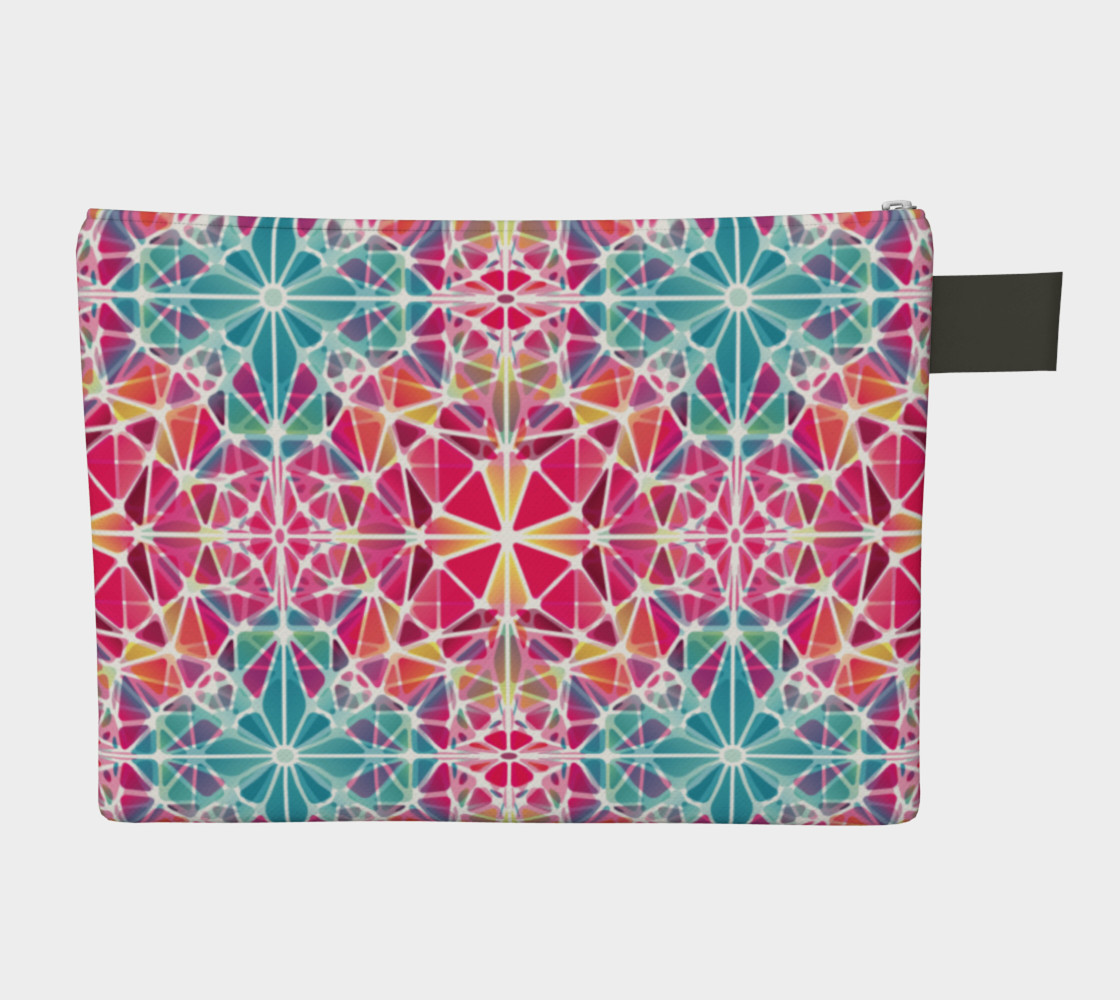 Pink and Blue Kaleidoscope Zipper Carry-All preview #2