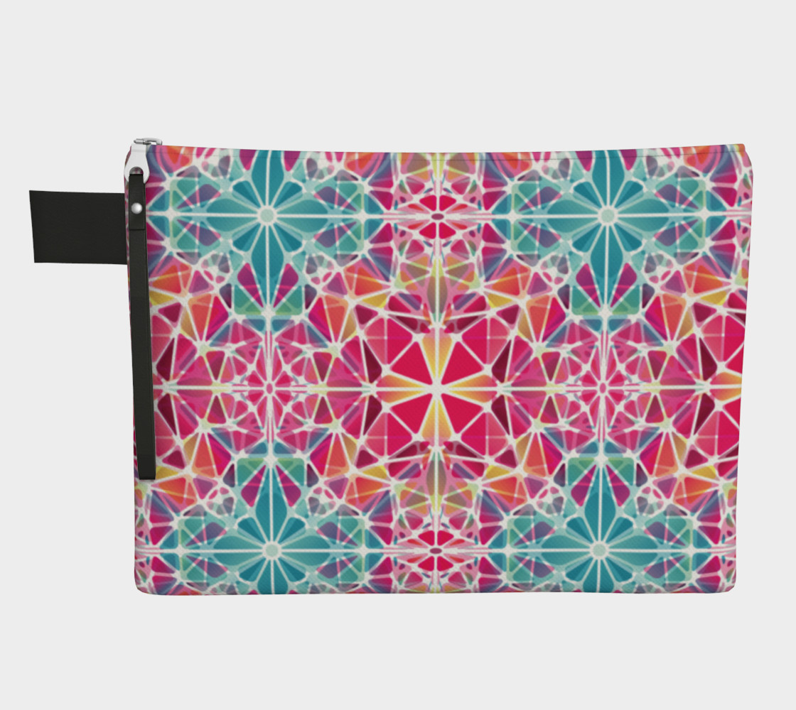 Pink and Blue Kaleidoscope Zipper Carry-All preview #1