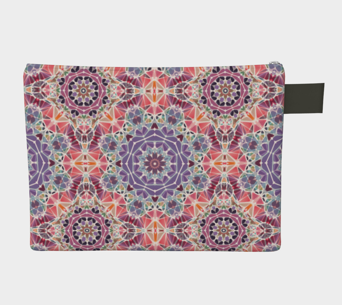 Purple and Pink Kaleidoscope Zipper Carry-All preview #2