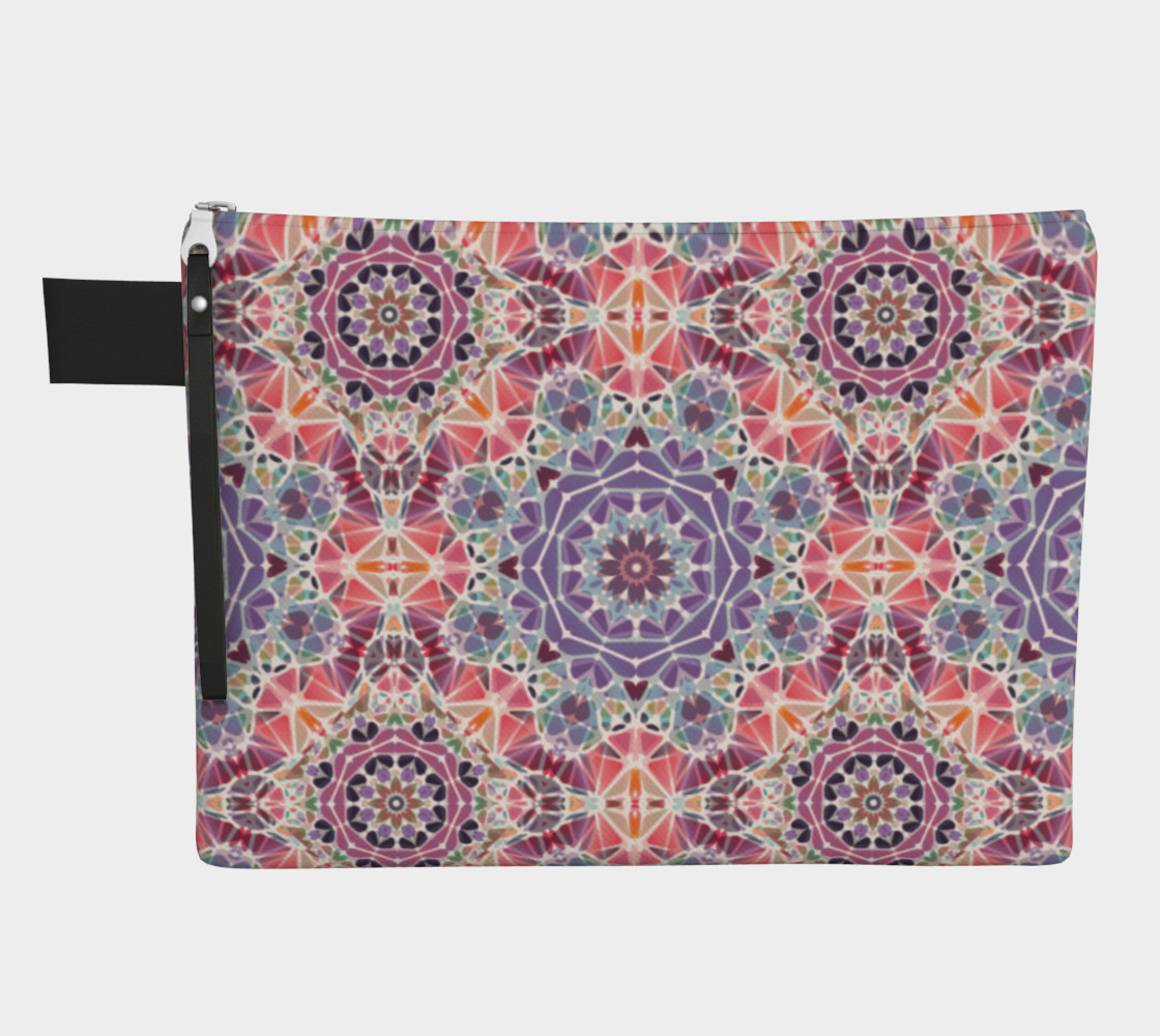 Purple and Pink Kaleidoscope Zipper Carry-All preview #1