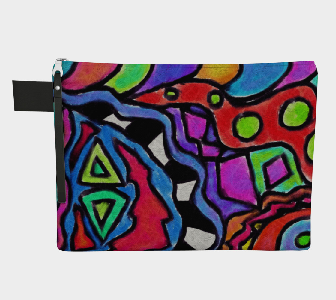 Aperçu de Colorful Abstract Art Clutch Bag #1