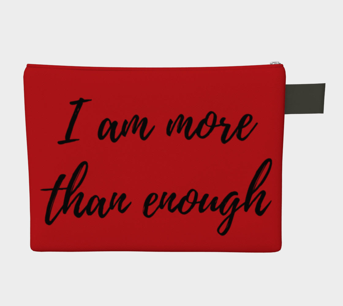 I am more than enough Zipper carry all preview #2