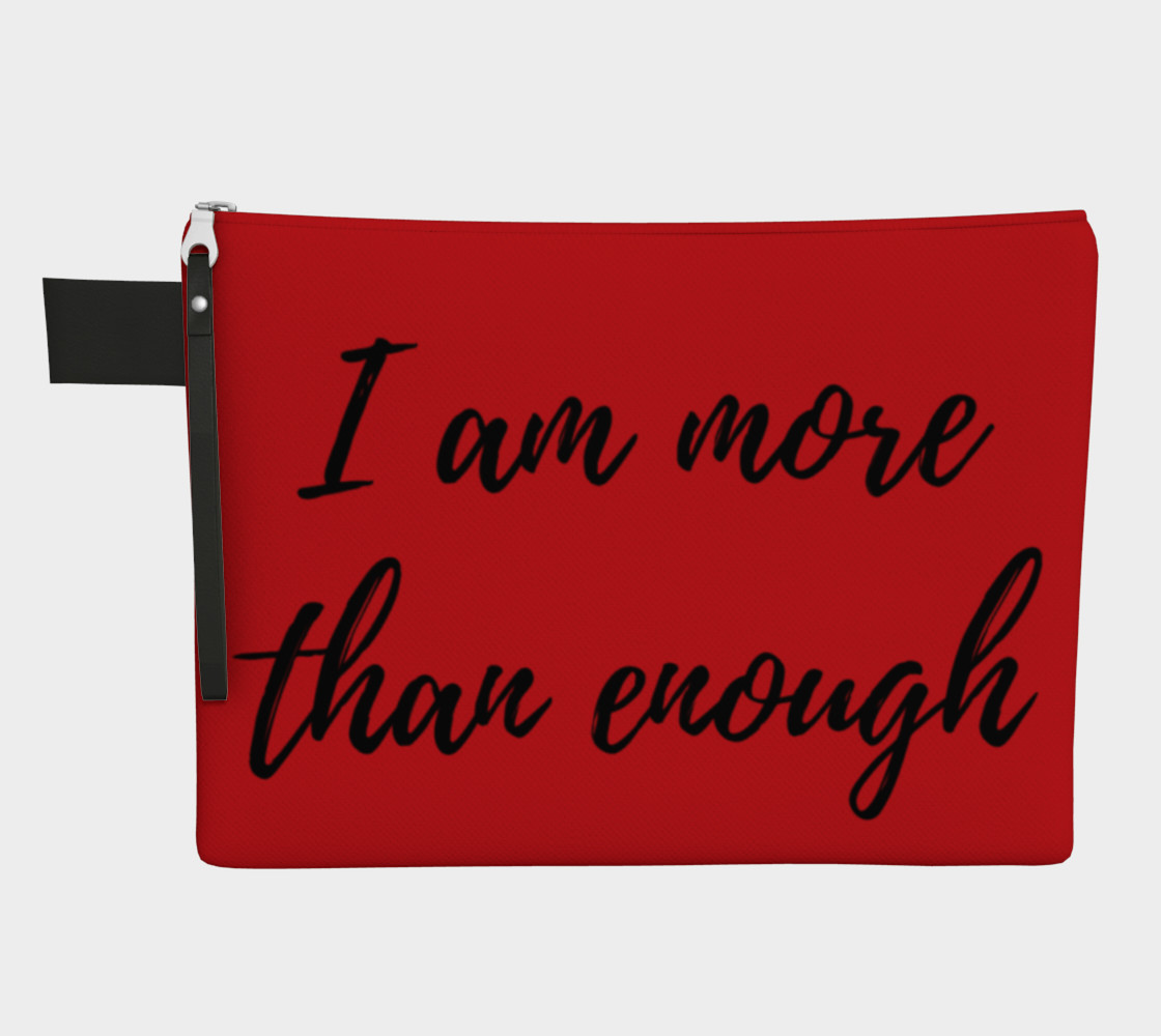 I am more than enough Zipper carry all preview #1