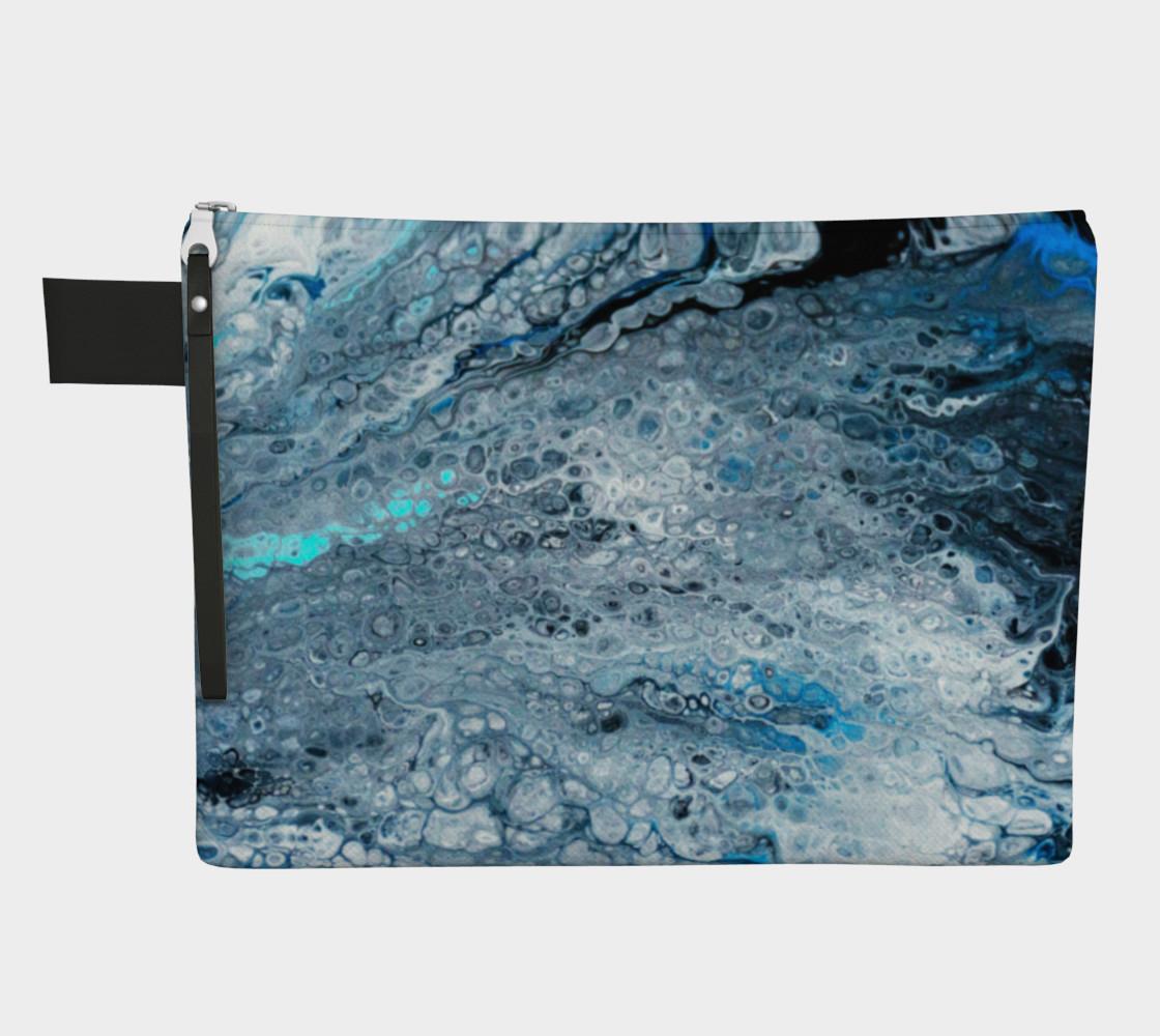 Earth's Oceans Acrylic Pour Art preview #1