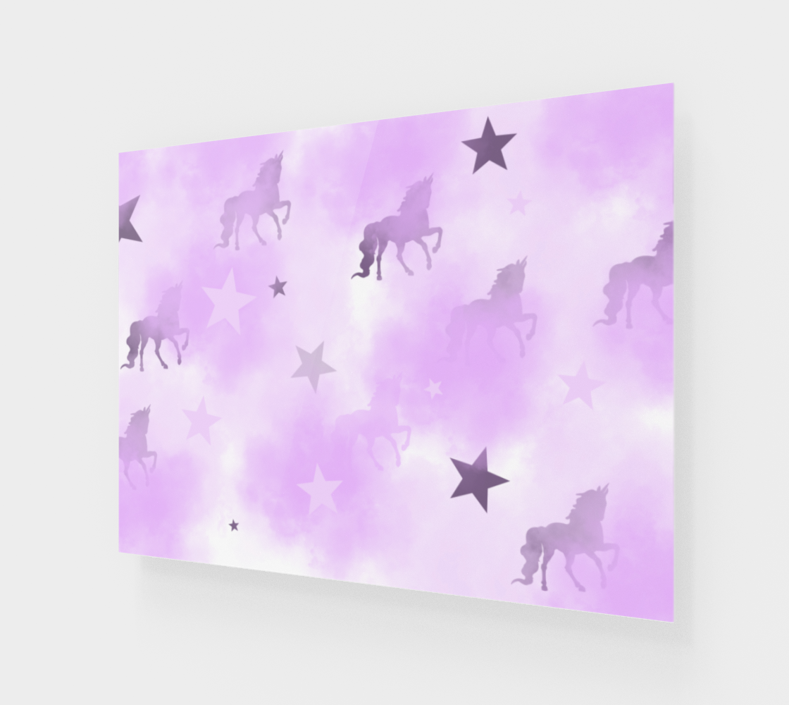 Mystical Dreams Unicorn Wall Canvas 32x24 preview