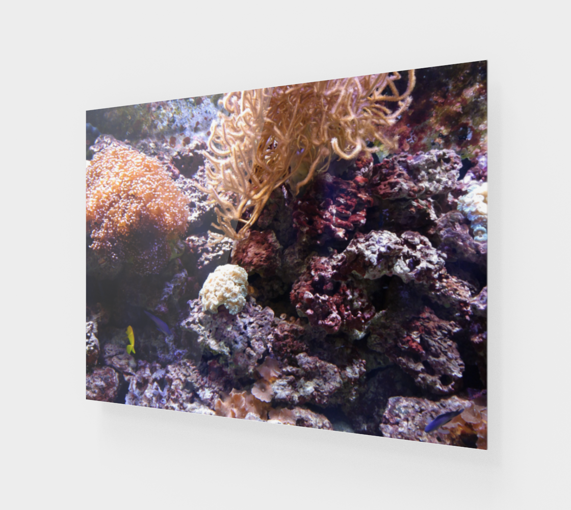 Coral Reef Wall Art with Oil Painting Effect preview