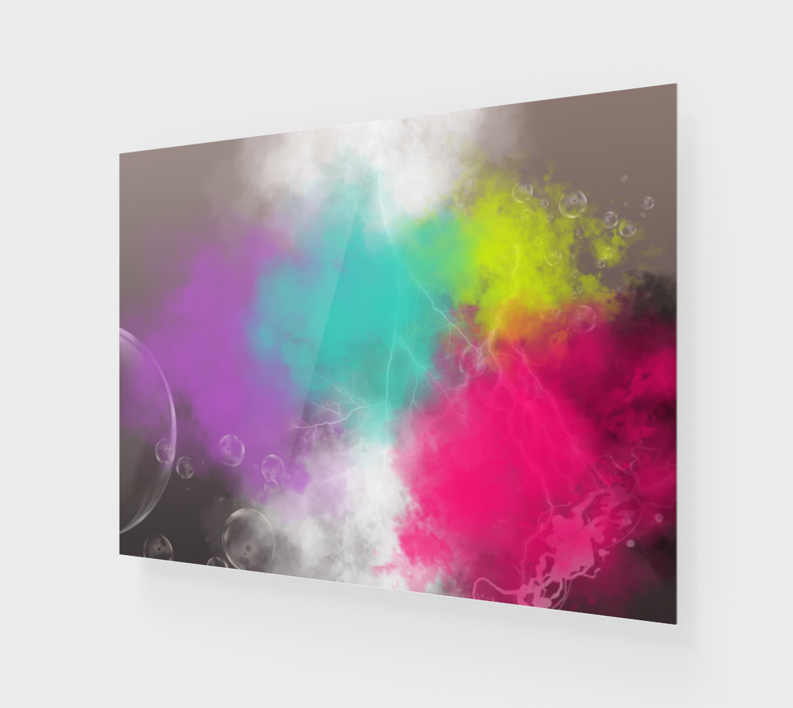 Abstract Clouds Wall Art 3D preview