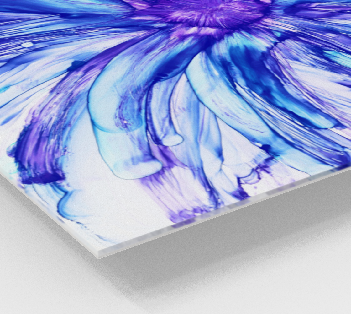 Abstract Blue Daisy preview #2