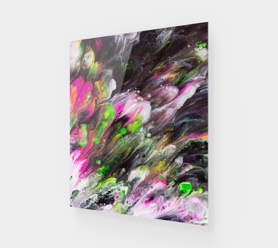 Aperçu de Abstract Spring Blooms Acrylic Art