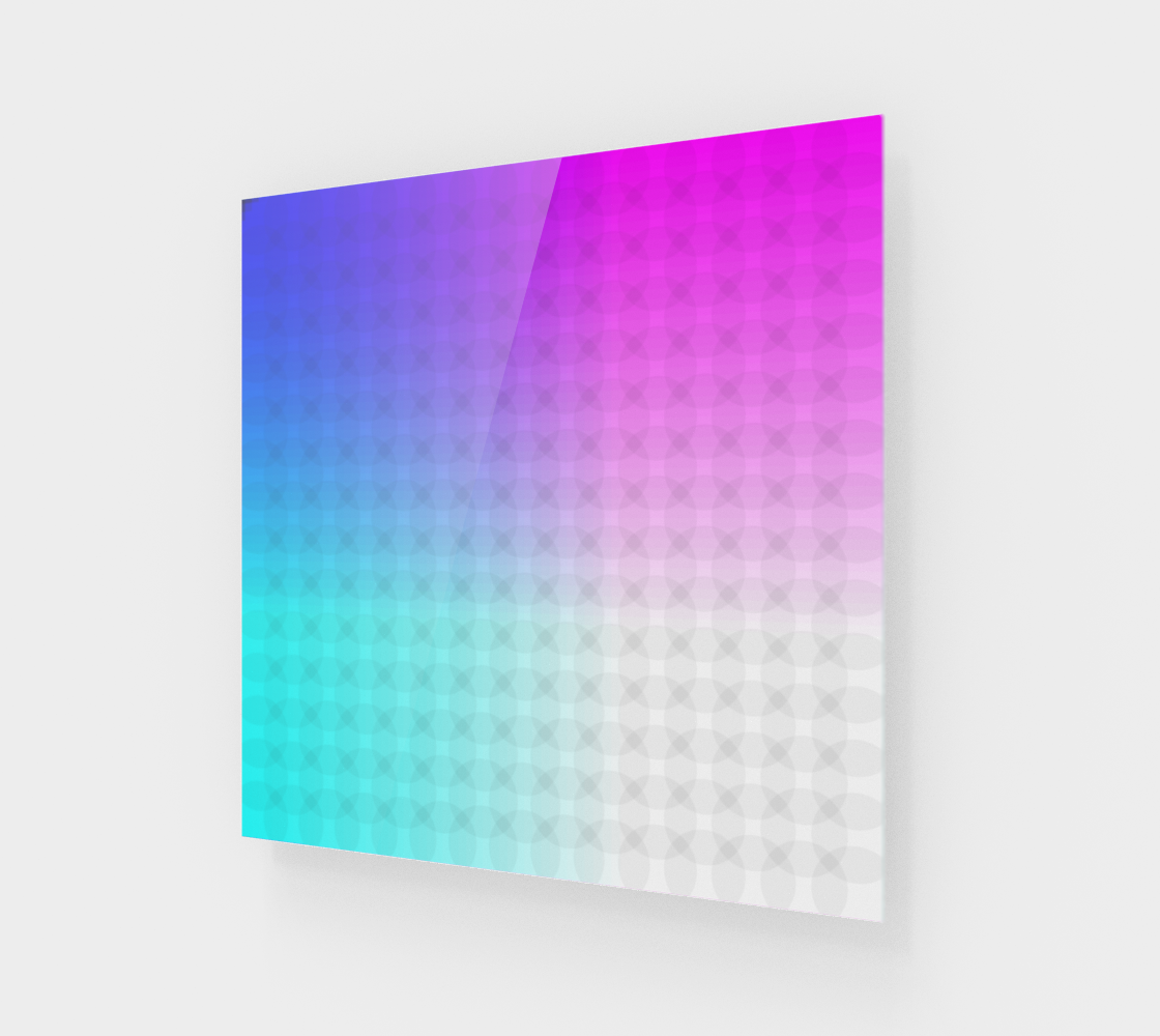 Ombre Rainbow Circle Grid Pink Purple White preview