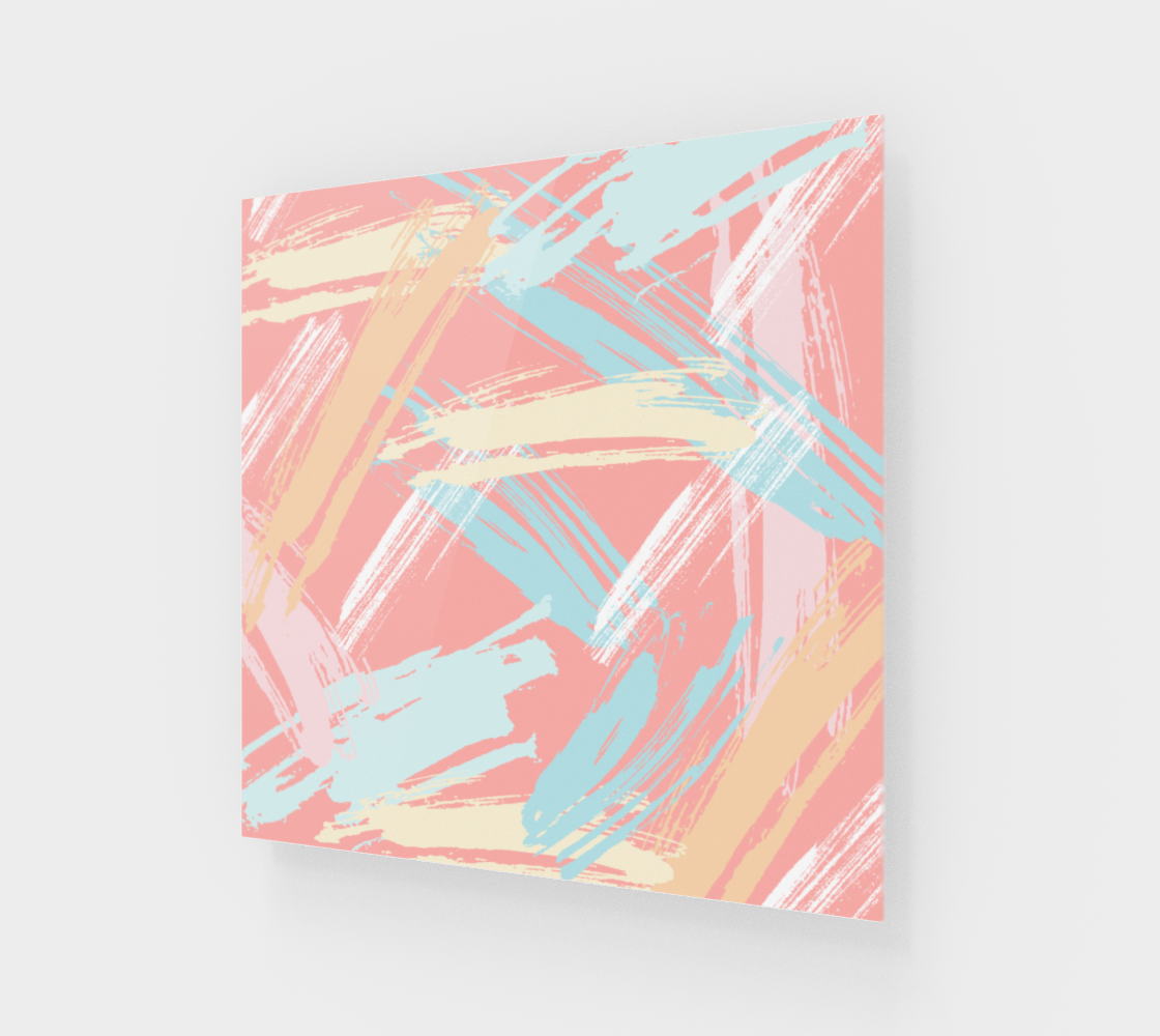 Pastel Abstract Brush Stroke Poster preview