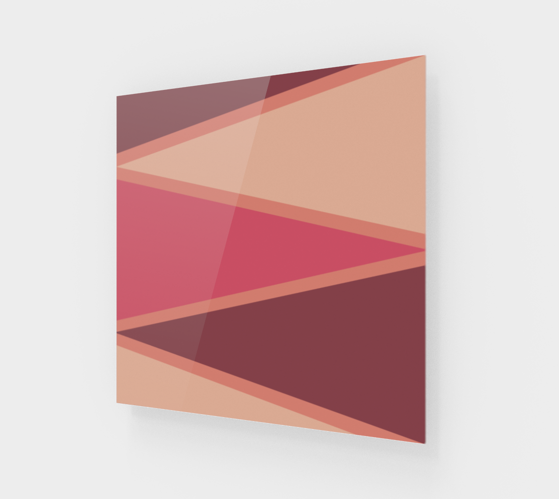 Aperçu de Romantic Blush Triangle Pattern Canvas Print
