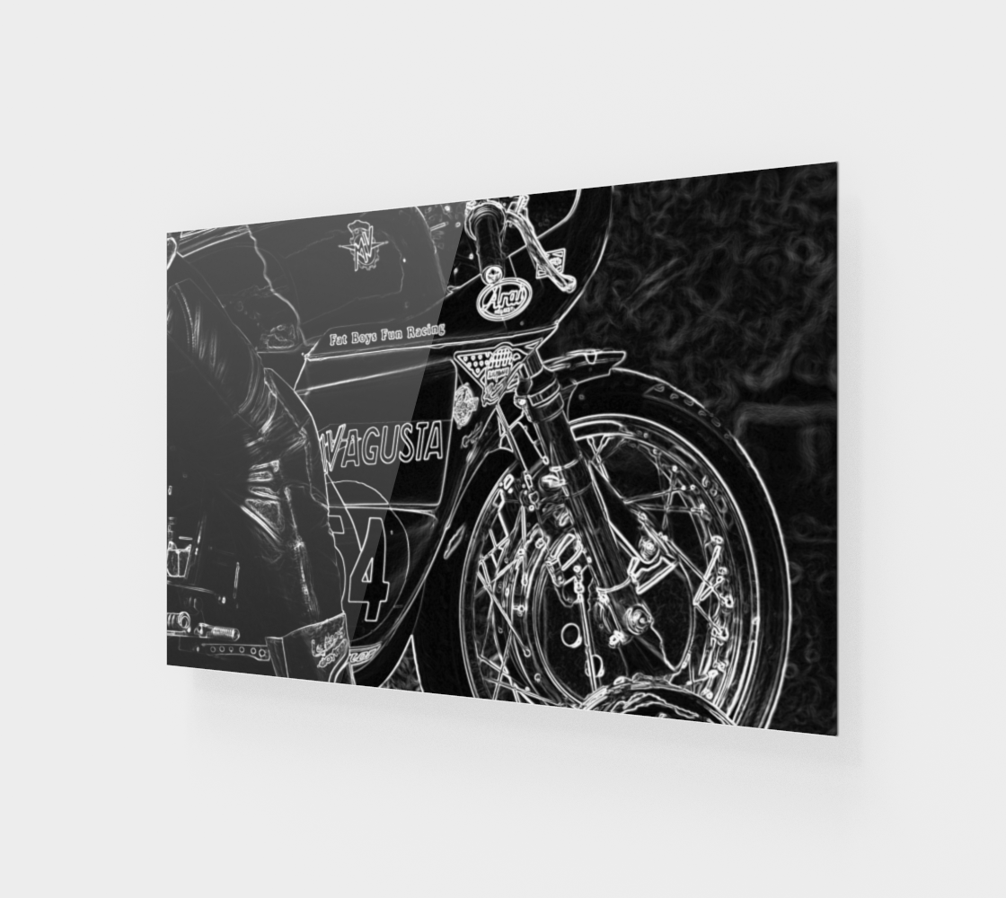 Motorcycle 1 Wood Print preview