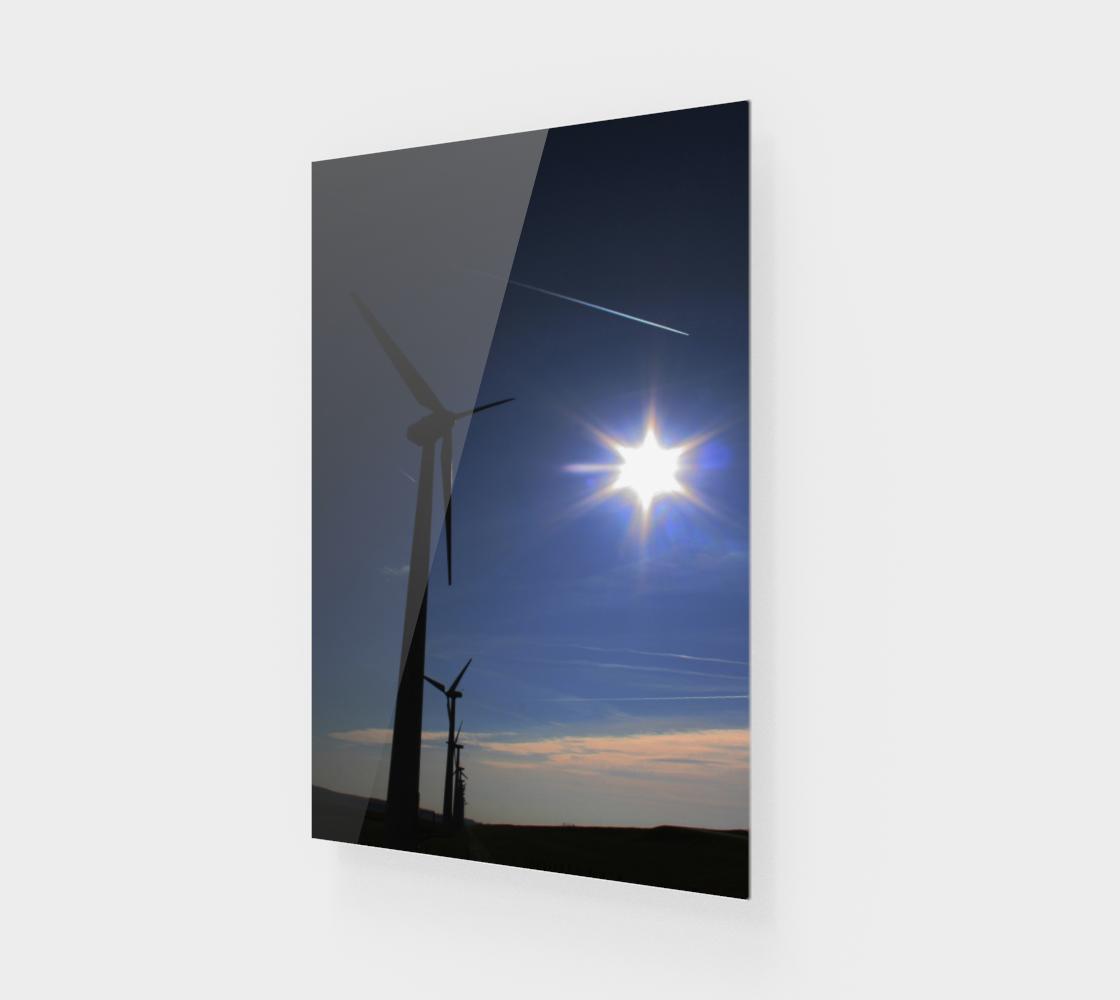 Windfarm and Blue Sky Art Print preview