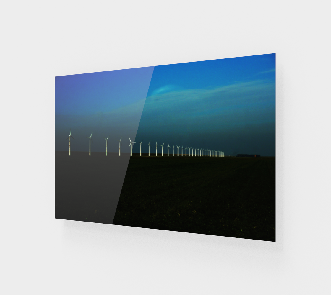 Windfarm Wood Print preview