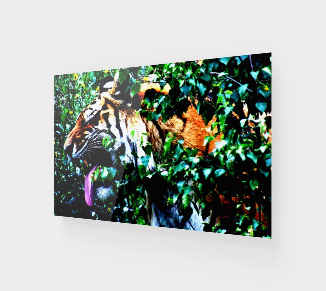 Amur Tiger Wood Print preview