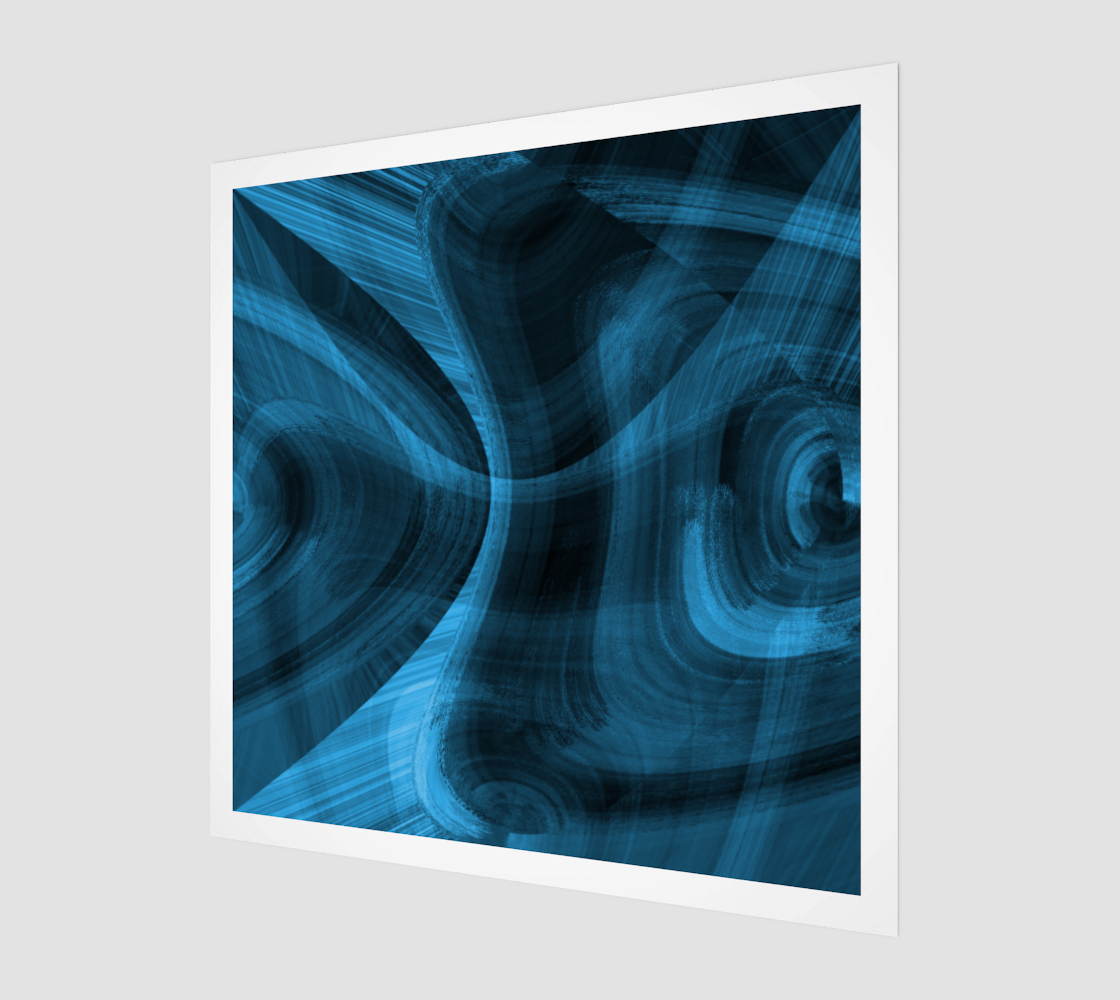 Bluish Black Hole Acrylic Print preview