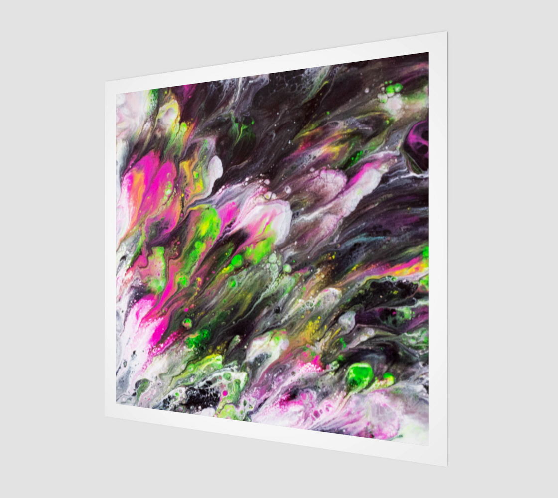 Aperçu de Abstract Spring Blooms Acrylic Art