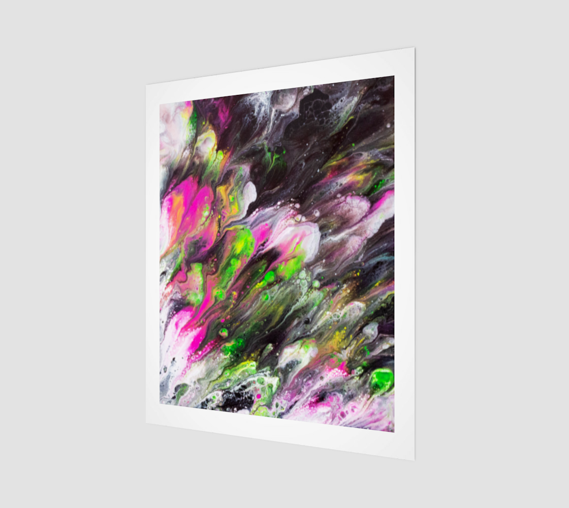 Abstract Spring Blooms Acrylic Art preview