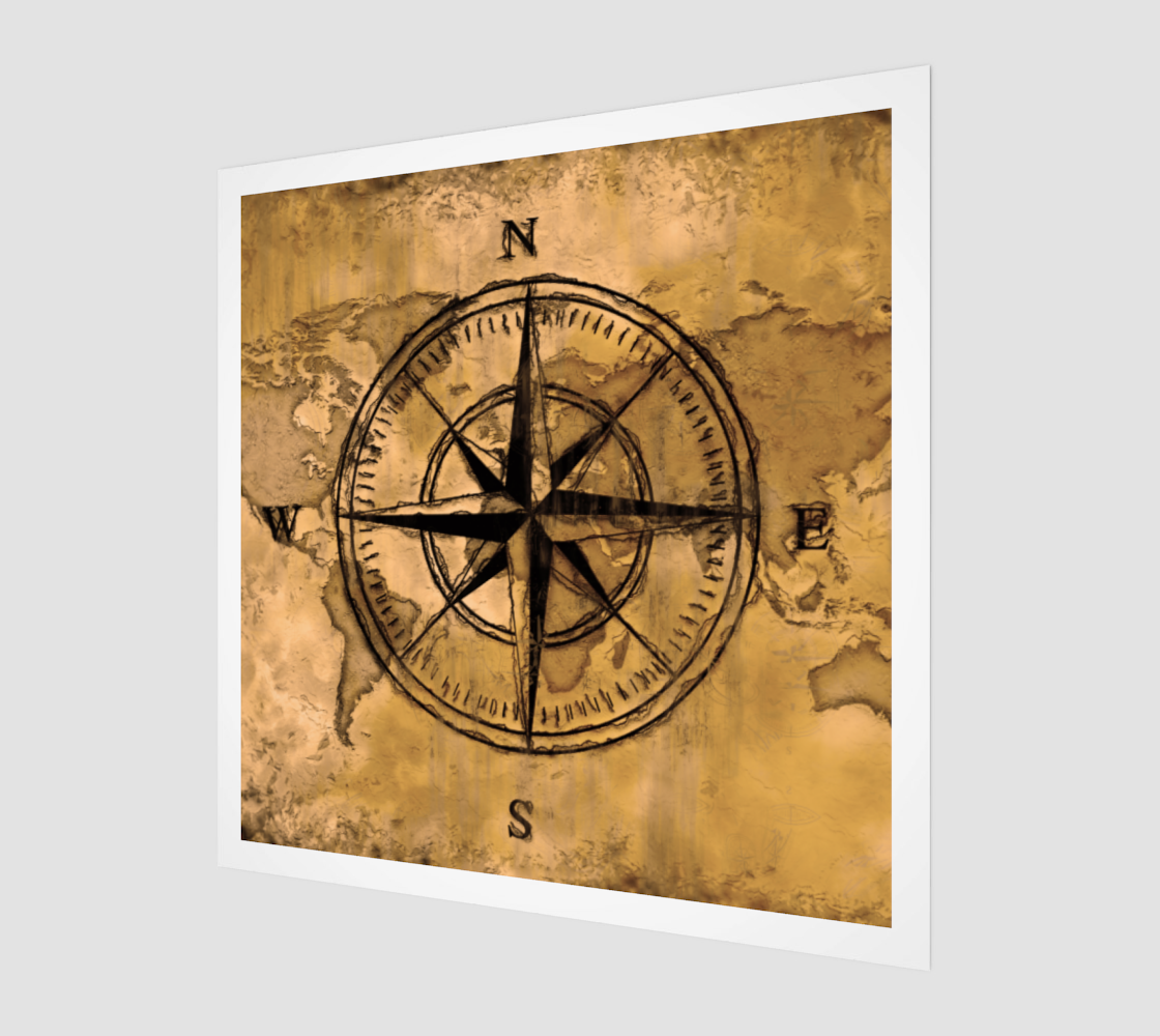 Compass Rose & World Map preview