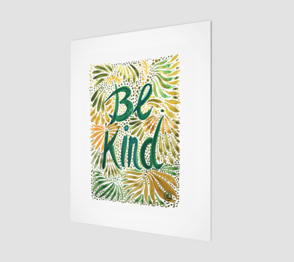 BE KIND - Print preview