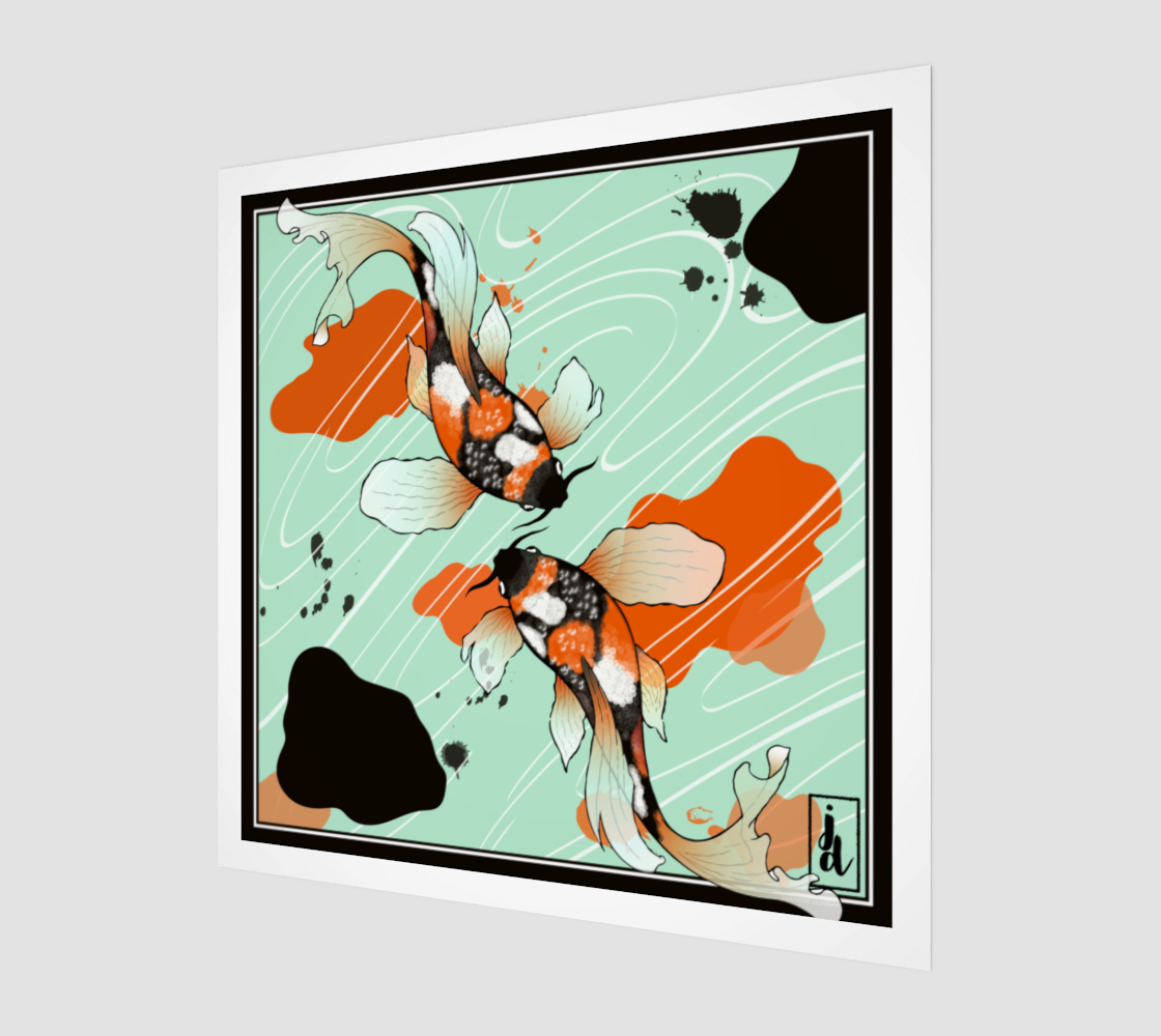 Koi Art Print Green preview