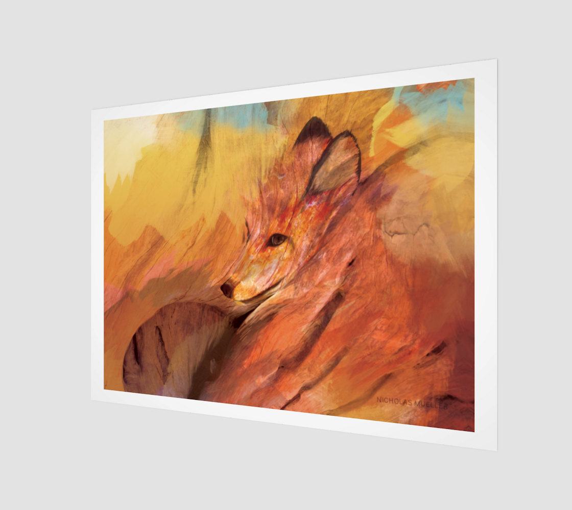 Cinder Fields Fox Print preview