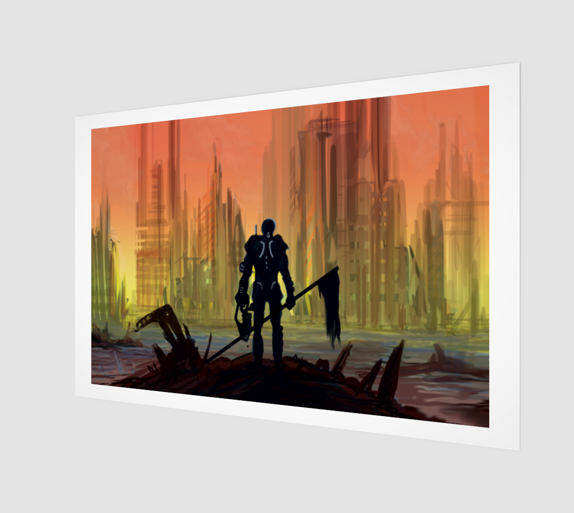 Apocalypse Warrior Print preview