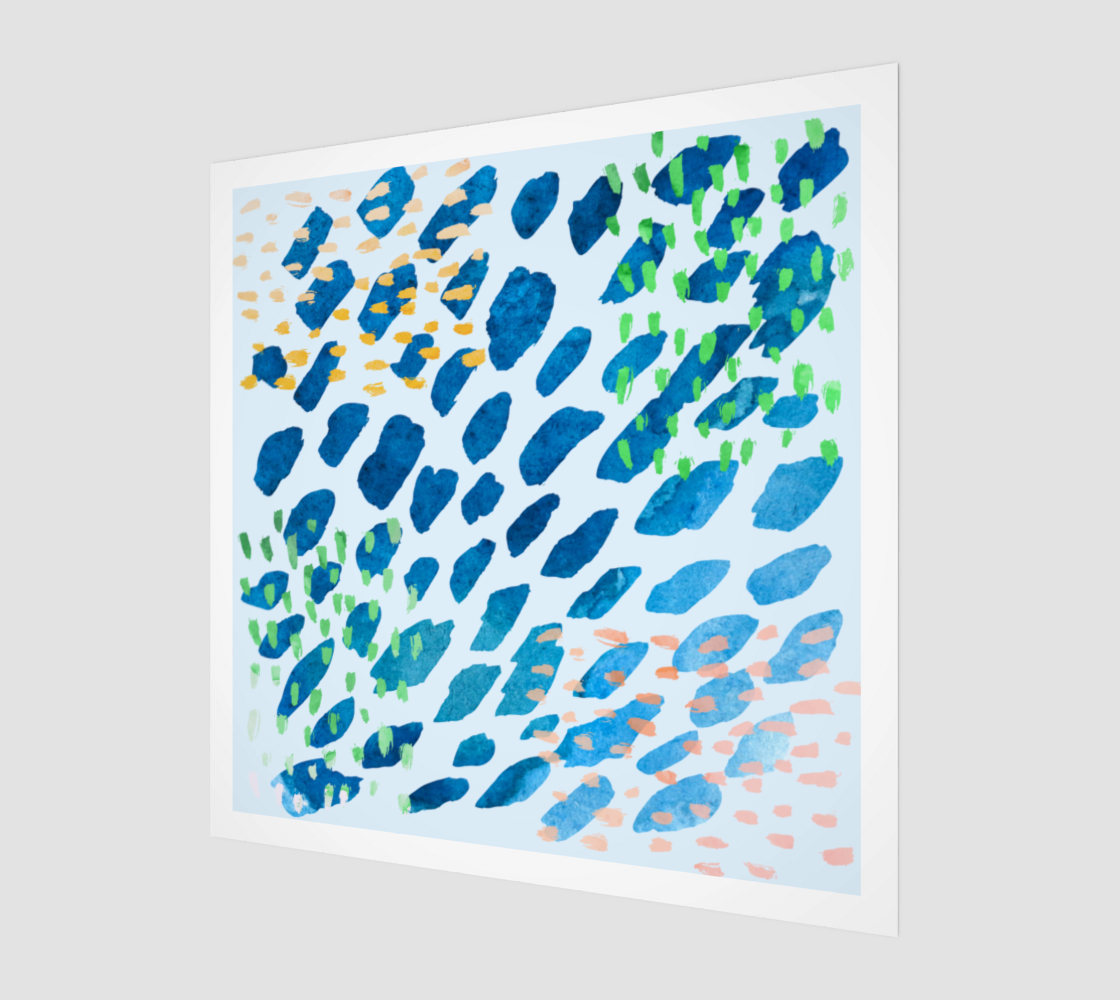 Under The Sea Watercolor Abstract Poster preview